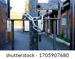 Padlock And Chain Around A...