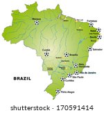 map of brazil in green | Shutterstock . vector #170591414