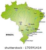 map of brazil in green | Shutterstock . vector #170591414