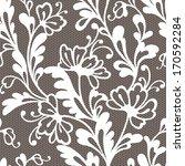 seamless flower lace pattern   Shutterstock .eps vector #170592284