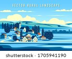 rural landscape with the small... | Shutterstock .eps vector #1705941190