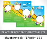 abstract tri fold brochure... | Shutterstock .eps vector #170594138
