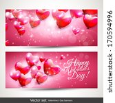 set of two horizontal valentine'... | Shutterstock .eps vector #170594996