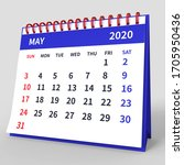 Standing Desk Calendar May 2020....