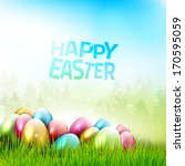 Easter Greeting Card With...