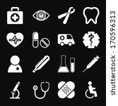 white medical icons set | Shutterstock .eps vector #170596313