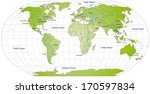 map of the world with main... | Shutterstock . vector #170597834