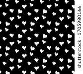 vector background with heart... | Shutterstock .eps vector #1705980166