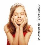 pretty beautiful girl dreaming...   Shutterstock . vector #170598530