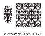 rococo pattern vector ornament... | Shutterstock .eps vector #1706011873