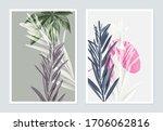 botanical poster design  bottle ...   Shutterstock .eps vector #1706062816