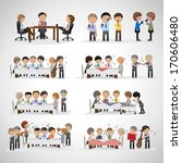 business peoples in office and... | Shutterstock .eps vector #170606480
