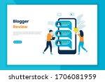 blogger review illustration...