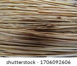 The Texture Of A Broom Made By...