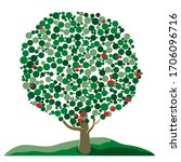 vector abstract green tree from ...