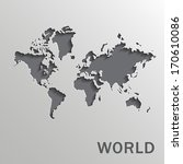 Vector Paper World Map On A...