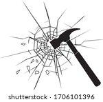 emergency hammer with break... | Shutterstock .eps vector #1706101396