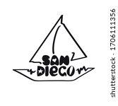 san diego california sailboat...   Shutterstock .eps vector #1706111356
