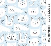 Cute Seamless Pattern With Hand ...