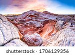 Red Rock Mountain Surface View