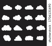 cloud white set isolated on... | Shutterstock .eps vector #1706131690