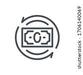 cashback line icon. money...