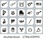 musical instruments icons black ... | Shutterstock .eps vector #1706143993