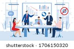 business meeting profit and... | Shutterstock .eps vector #1706150320