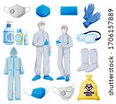 medical personal protective... | Shutterstock .eps vector #1706157889