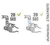 washing your hands 20 seconds... | Shutterstock .eps vector #1706190070