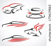 cars abstract set. vector  | Shutterstock .eps vector #170619863