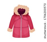 zippered parka or coat with... | Shutterstock .eps vector #1706203573