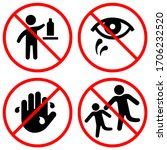 warning keep out of reach from... | Shutterstock .eps vector #1706232520