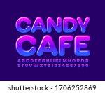 vector creative sign candy cafe.... | Shutterstock .eps vector #1706252869