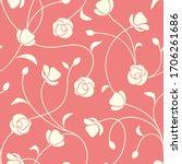 vector seamless floral pattern... | Shutterstock .eps vector #1706261686