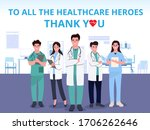 thank you doctor and nurses and ...   Shutterstock .eps vector #1706262646