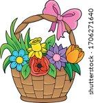 flower basket theme image 1  ... | Shutterstock .eps vector #1706271640