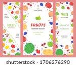 fruit banner collection. vector ...   Shutterstock .eps vector #1706276290