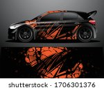 rally car decal graphic wrap...   Shutterstock .eps vector #1706301376