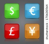 dollar  yen  euro  pound icons...