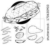 vietnamese sandwich | Shutterstock .eps vector #170630903