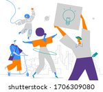 a group of young creative...   Shutterstock .eps vector #1706309080