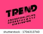modern style font  alphabet... | Shutterstock .eps vector #1706313760