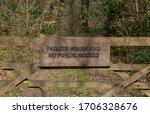 """""""private Woodland  No Public..."""