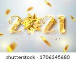 2021 happy new year. vector... | Shutterstock .eps vector #1706345680