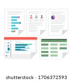 flat vector set of microsoft... | Shutterstock .eps vector #1706372593