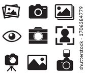 set of cameras and photo ... | Shutterstock .eps vector #1706384779