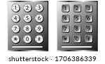 round push button with numbers... | Shutterstock .eps vector #1706386339