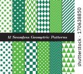 Emerald And Green Geometric...