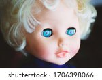 Plastic Doll With Blue Eyes
